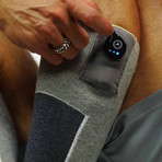 FNDN Heated 3.7V Sports Socks // Gray (S/M)