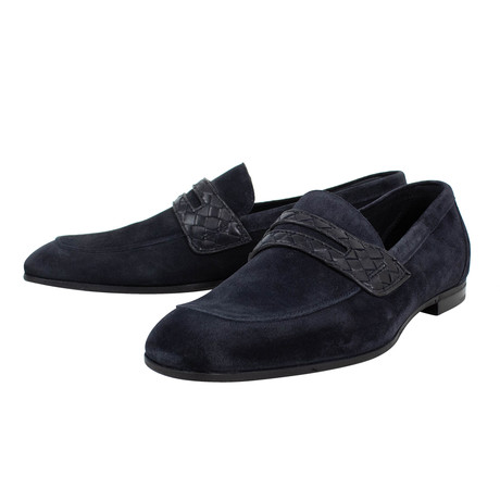Bottega Veneta // Suede Loafer Dress Shoes // Navy Blue (US: 10)