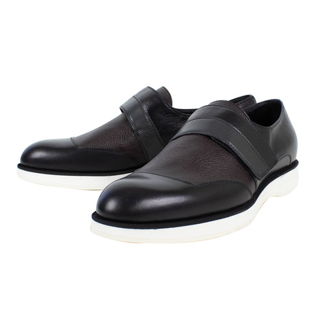 Bottega Veneta // Leather Dress Shoes // Black + Brown + Gray (US: 10)