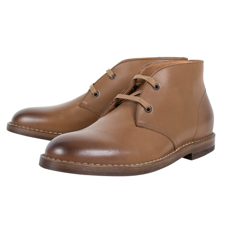 Bottega Veneta // Leather Chukka Boots // Brown (US: 10)