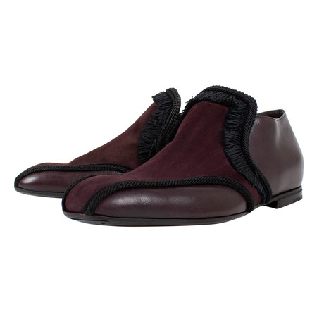 Bottega Veneta // Leather Loafer Dress Shoes // Burgundy (US: 10)