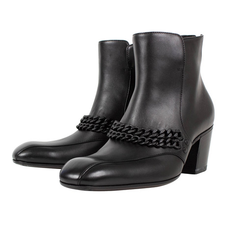 Bottega Veneta // Chains Leather Boots // Black (US: 10)
