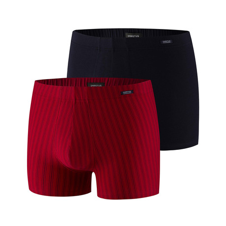 Ryan Boxer Brief 2-Pack // Black + Red (XS)