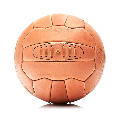 Deluxe Leather 18P Soccer Ball // Tan