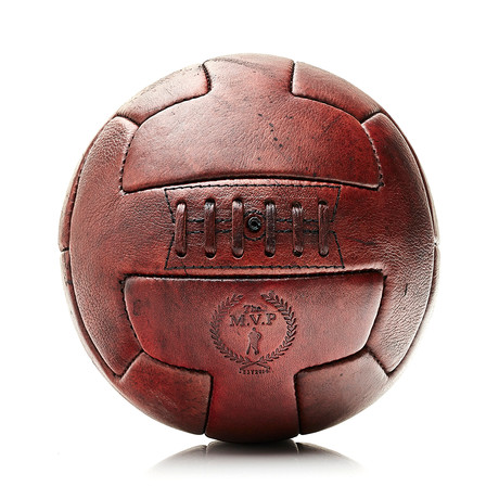 Leather T Soccer Ball // Heritage Brown