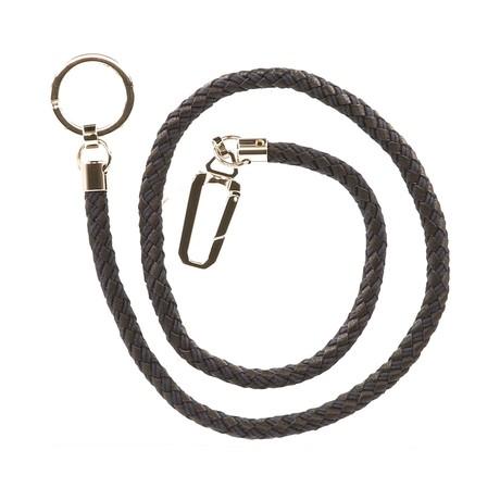 Braided Key Chain // Aubergine