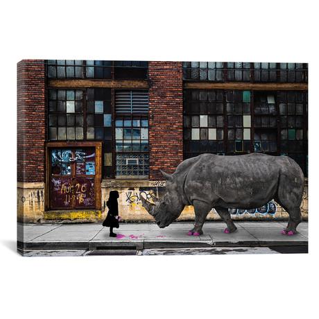 "Real Rhinos Wear Pink // Matt Coglianese (18""W x 26""H x 0.75""D)"