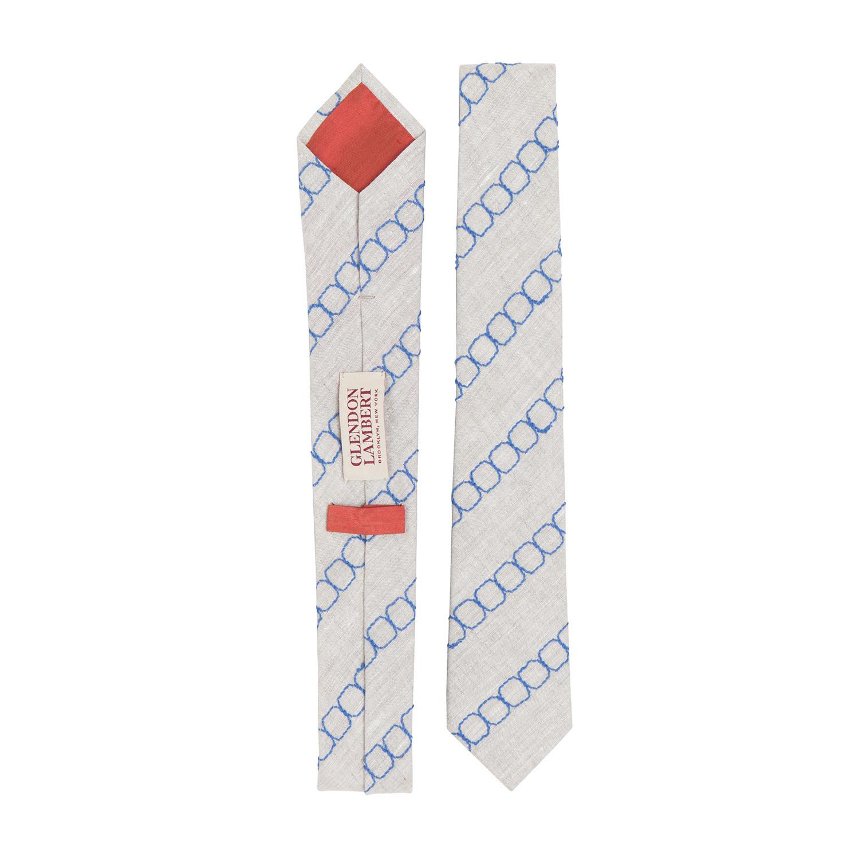 Chain Link Linen // Cielo Blue - Glendon Lambert - Touch of