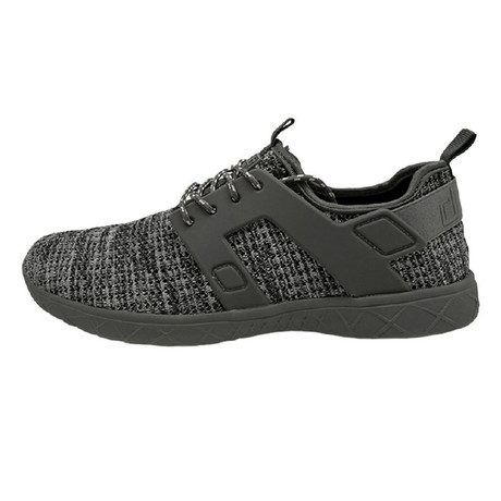 Axel Ly Sox Perforated Sneakers // Black + Grey (US: 7)