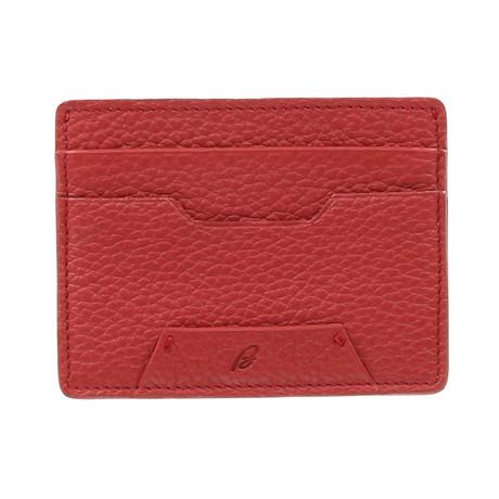 Business Credit Card Holder // Carnation Red