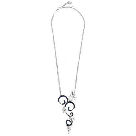 Stefan Hafner 18k White Gold Diamond + Sapphire Necklace I