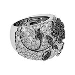 Stefan Hafner 18k White Gold White Diamond + Black Diamond Ring // Ring Size: 6.75