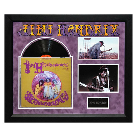 Signed + Framed Album Collage // Jimi Hendrix