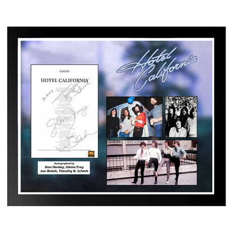 Signed + Framed Lyric Collage // The Eagles