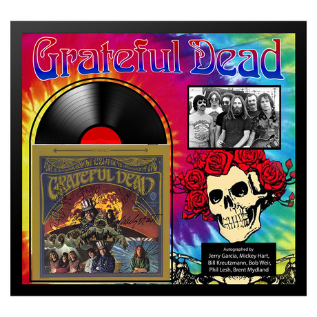 Signed + Framed Album Collage // Grateful Dead
