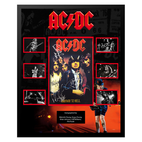 Signed + Framed Collage // ACDC