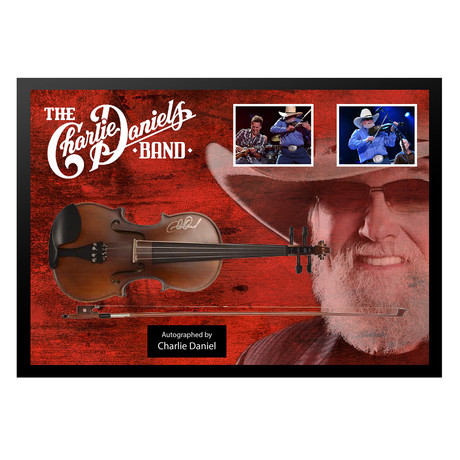 Signed + Framed Guitar // Charlie Daniels