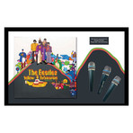 Signed + Framed microphone Collage // Beatles