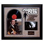 Signed + Framed Album Collage // Johnny Cash