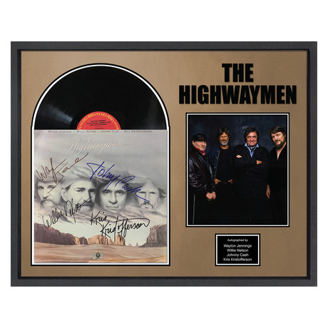 Signed + Framed Album Collage // The Highway Men