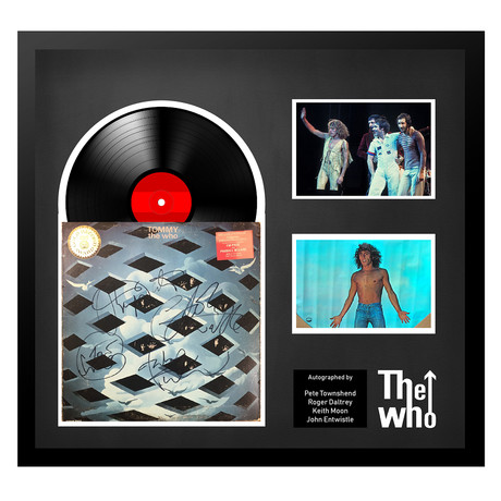 Signed + Framed Album Collage // The Who
