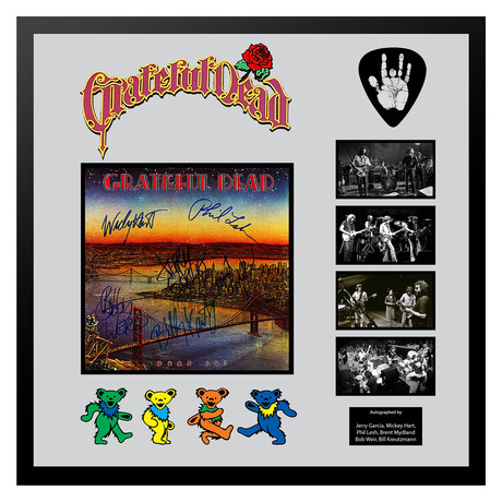 Signed + Framed Album Collage // Deadset // Grateful Dead