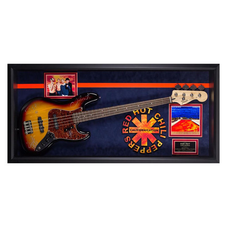 Signed + Framed Guitar // Red Hot Chili Peppers