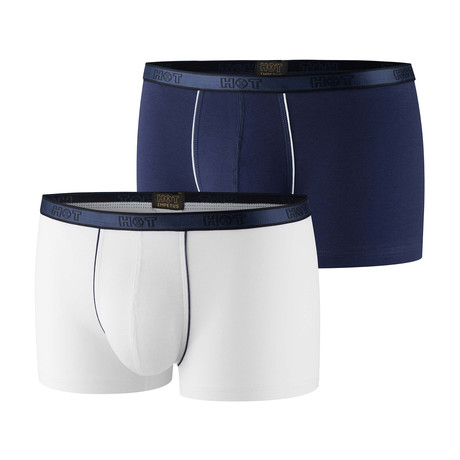 Alex Boxer Brief 2-Pack // Navy + White (XS)