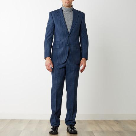 2BSV Peak Lapel Suit // Blue Check (US: 36S)