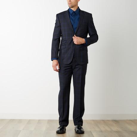 2BSV Notch Lapel Suit // Black Blue Windowpane (US: 36S)