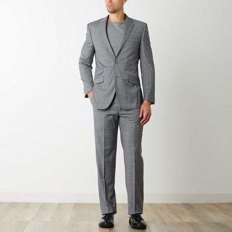 2BSV Notch Lapel Suit // Gray Windowpane (US: 36S)