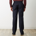 2BSV Peak Lapel Suit // Navy Tonal Plaid (US: 42R)