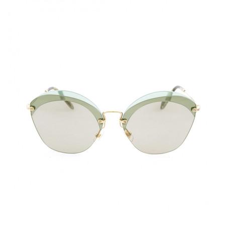 Miu Miu // Sunglasses // Gold + Transparent Green + Light Brown