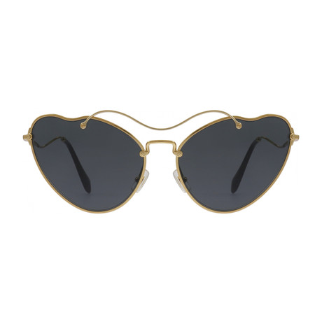 Miu Miu // Women's Sunglasses // Antique Gold + Grey Gradient