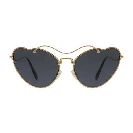 Miu Miu // Women's Sunglasses // Antique Gold + Grey Gradient
