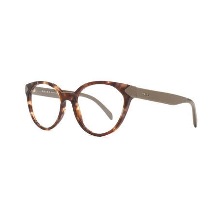 Prada // Women's Optical Frames // Spotted Brown Pink + Demo
