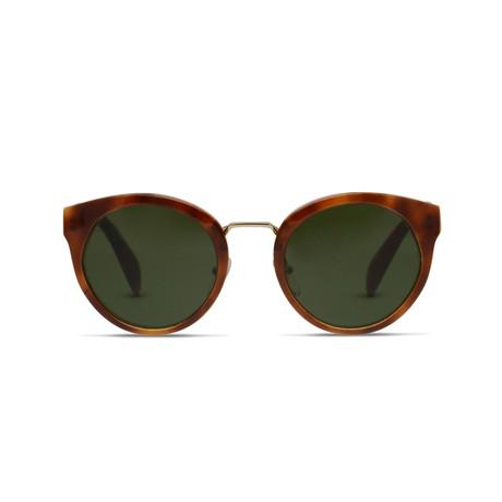 Prada // Sunglasses // Light Havana + Green