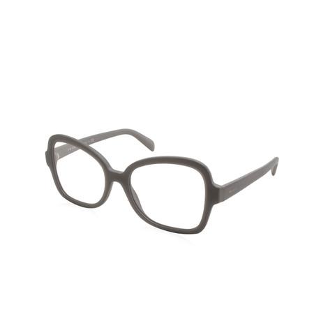 Prada // Women's Optical Frames // Matte Grey + Demo