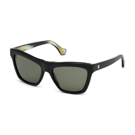 Balenciaga // Women's Cat Eye Sunglasses // Pebble Black + Gray