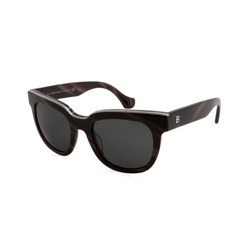 Balenciaga // Women's Round Sunglasses // Brown + Gray Gradient