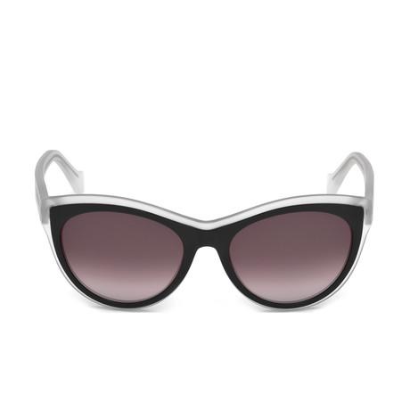 Balenciaga // Cat Eye Sunglasses // Black Crystal + Brown Gradient