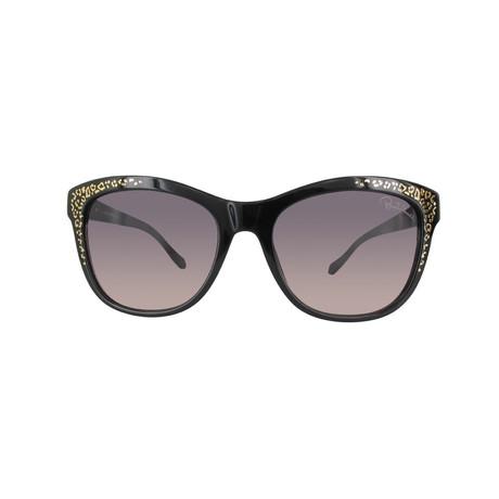 Roberto Cavalli // Cat-Eye Sunglasses // Black + Gradient Smoke