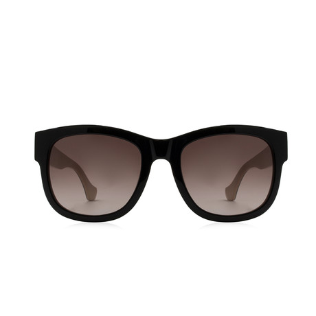 Balenciaga // Large Square Sunglasses // Black + Pink Gradient