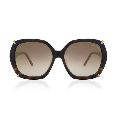 Roberto Cavalli // Women's Hex Sunglasses // Dark Havana + Brown Mirror