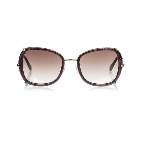 Roberto Cavalli // Oversize Square Sunglasses // Bronze + Brown Gradient