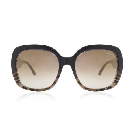 Roberto Cavalli // Large Square Sunglasses // Dark Brown + Brown Mirror
