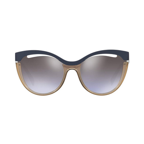 Miu Miu // Women's Cateye Sunglasses // Blue Olive + Violet Brown Gradient