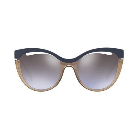 Miu Miu // Cateye Sunglasses // Blue + Brown + Violet Gradient
