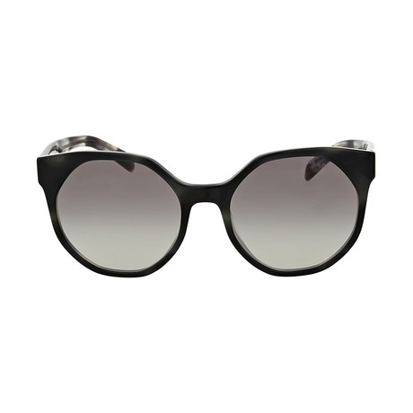 Prada // Women's Sunglasses // Striped Grey + Gray Gradient