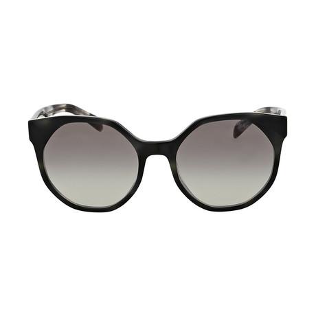Prada // Sunglasses // Striped Gray + Gray Gradient